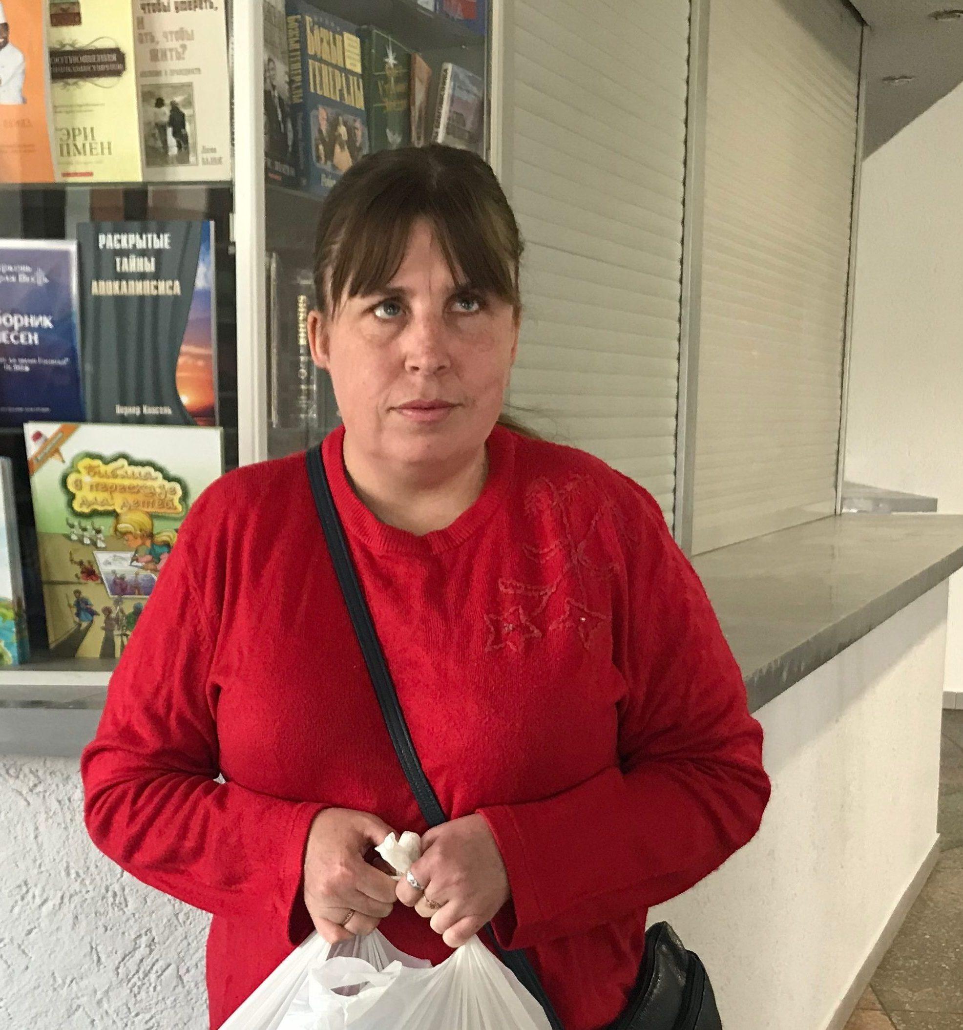 Наталья из общества незрячих увидела доброту